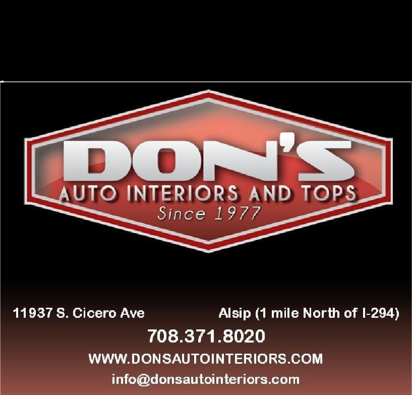 Don's Auto Interiors & Tops: 11937 S Cicero Ave, Alsip, IL