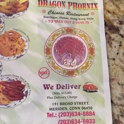 dragon phoenix restaurant menu meriden ct