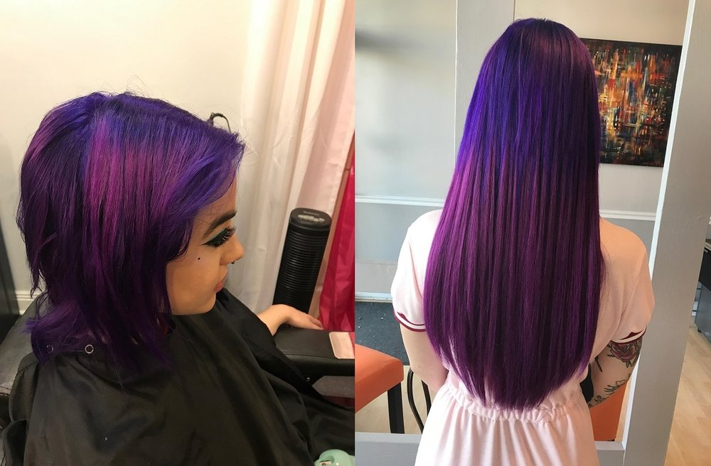Purple Hair Extensions Chicago Il Yelp