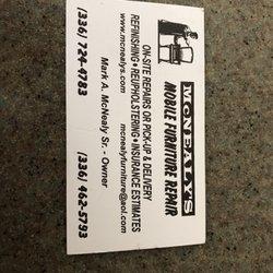Mcnealy S Mobile Furniture Repair 28 Photos Reupholstery 4605 Kellys Trl Winston M Nc Phone Number Yelp