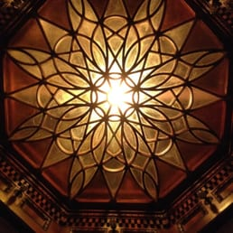 Giulio's Restaurant - Tappan, NY, United States. Skylight over Grand Staircase