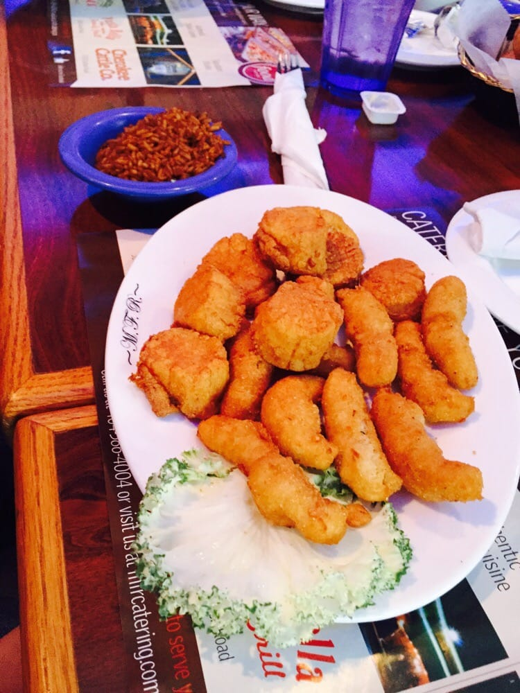 Lunch fried scallops and wild rice yelp for Marietta fish market