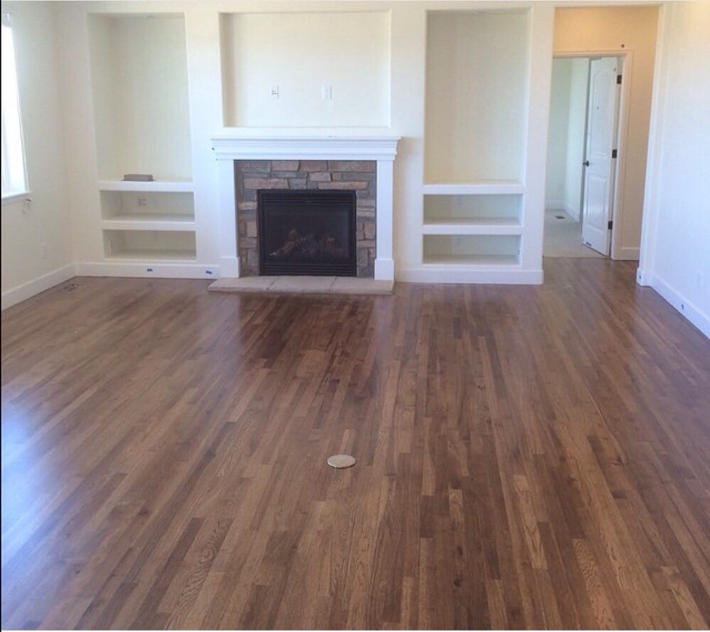 Finest New hickory hardwood floors installed, sanded and finished with  MO55