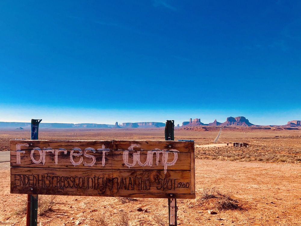 Forrest Gump Point: US-163 Scenic, Mexican Hat, UT
