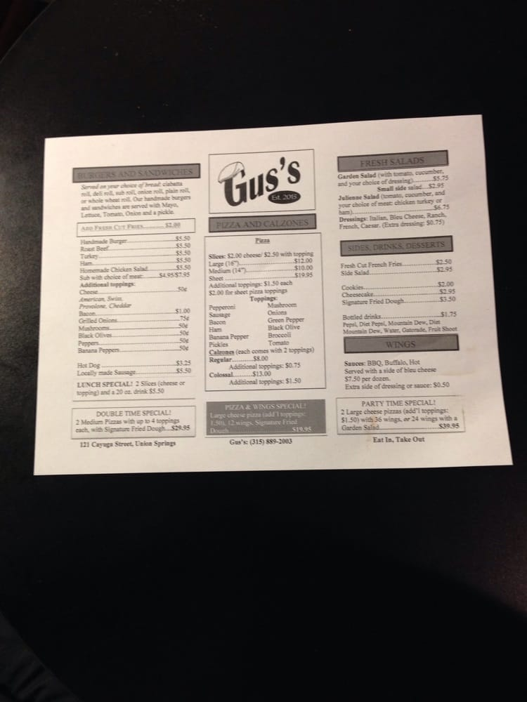 Food from Gus's