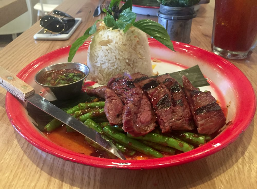 Neua yang steak 5 stars steak was so tender and cooked for 5 star thai cuisine