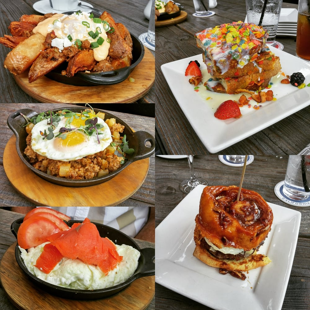 Bosscat brunch! Meatloaf hash, sticky bun burger, and the fruity ...