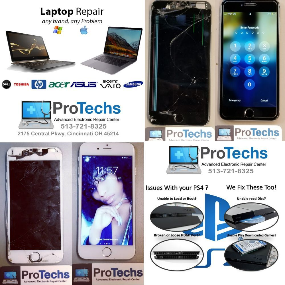 ProTechs Advanced Electronic Repair Center: 2175 Central Pkwy, Cincinnati, OH