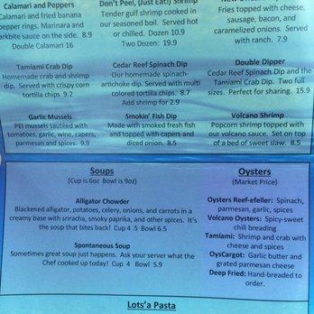 Cedar reef fish camp last updated 11 june 2017 47 for Cedar reef fish camp menu