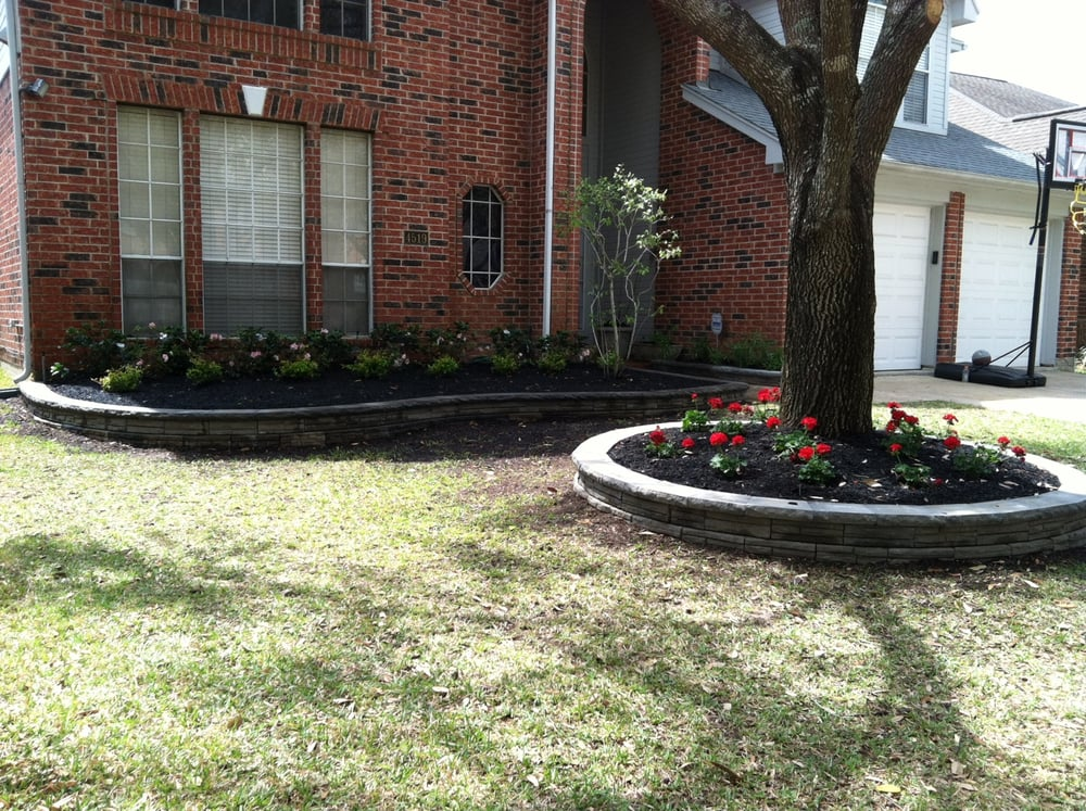 Finish Brick Retaining Wall For Flower Beds Yelp