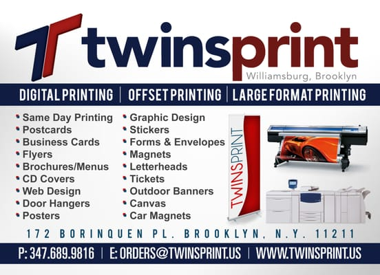 Twinsprint 172 borinquen pl williamsburg ny copying services mapquest reheart Images