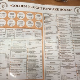 Gold Nugget Menu