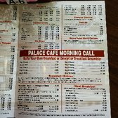 Palace Cafe Menu Opelousas