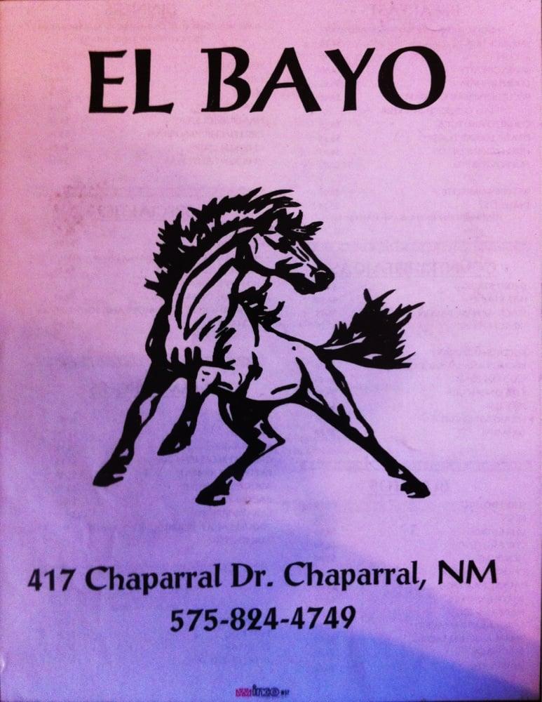 El Bayo Steak House: 417 Chaparral Dr, Chaparral, NM