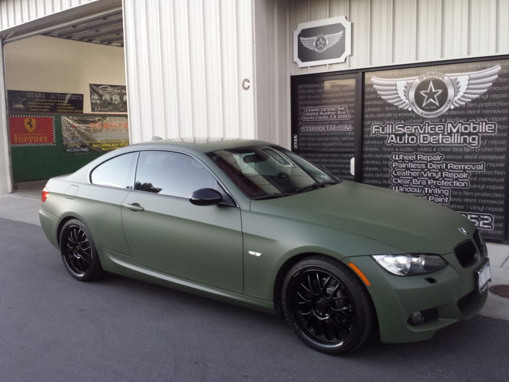 Bmw Olive Drab Vinyl Wrap Full Color Change From Black To