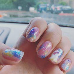 Photo Of Mermaid Nail Art Bellevue Wa United States Sailor More Galaxy