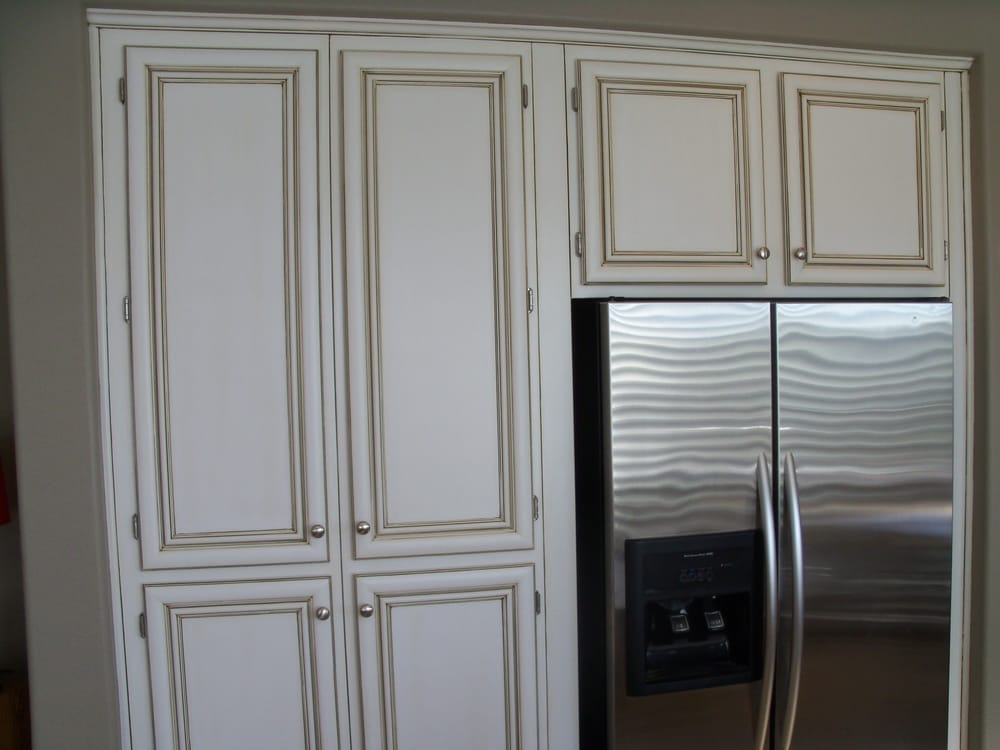 White Pigmented Lacquer with Raw Umber Glazing - Yelp