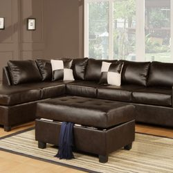 Photo Of Wholesale Furniture Brokers   Kamloops, BC, Canada. Sacramento  Espresso Leather Sectional