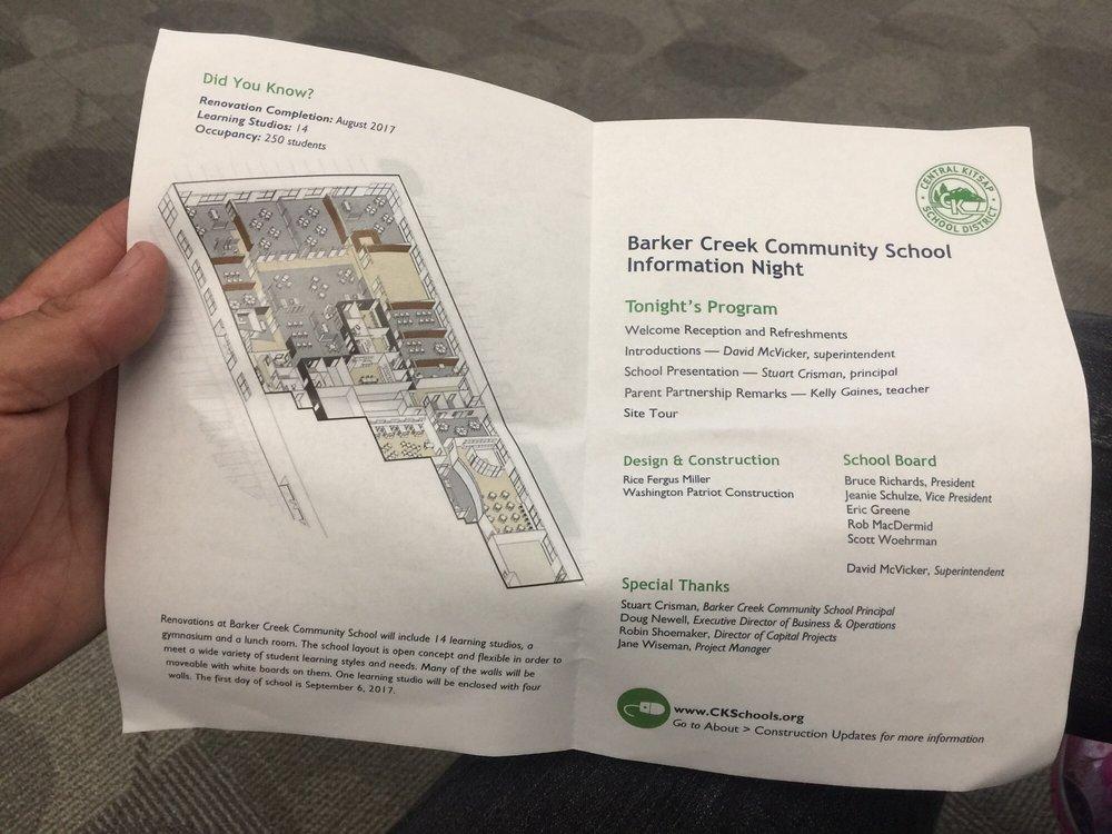 Barker Creek Community School and CKSD Teaching & Learning Center | 1400 NE Mcwilliams Rd, Bremerton, WA, 98311 | +1 (360) 662-2570