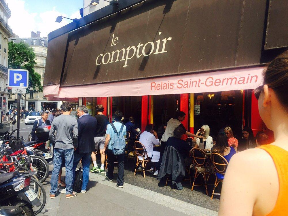 No reservation worth the queue yelp - Le comptoir du relais restaurant reservations ...