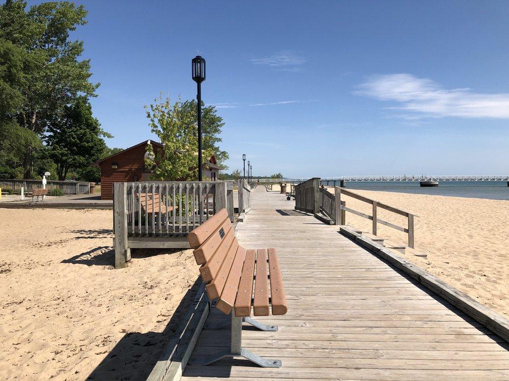 Oscoda Beach Park: 200-222 E River Rd, Oscoda, MI