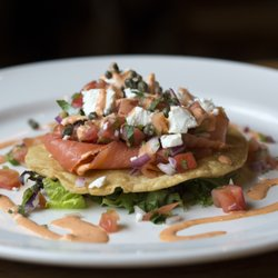 Photo of Beehive Restaurant - Armonk, NY, United States. Smoked Salmon  Tostada