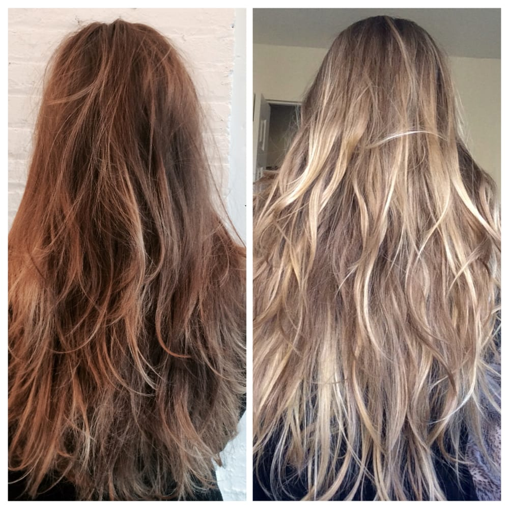 Hair Before And After Full Balayage Highlights By Erin Yelp