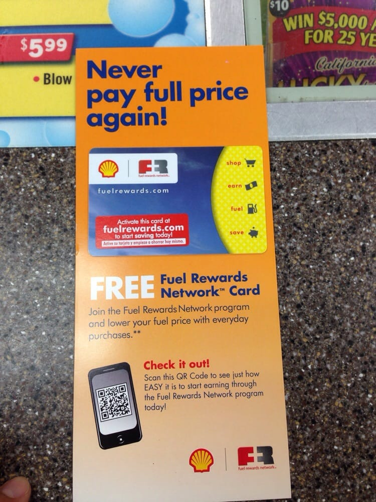 Picked up the Fuel Rewards card to save $0 03 off every
