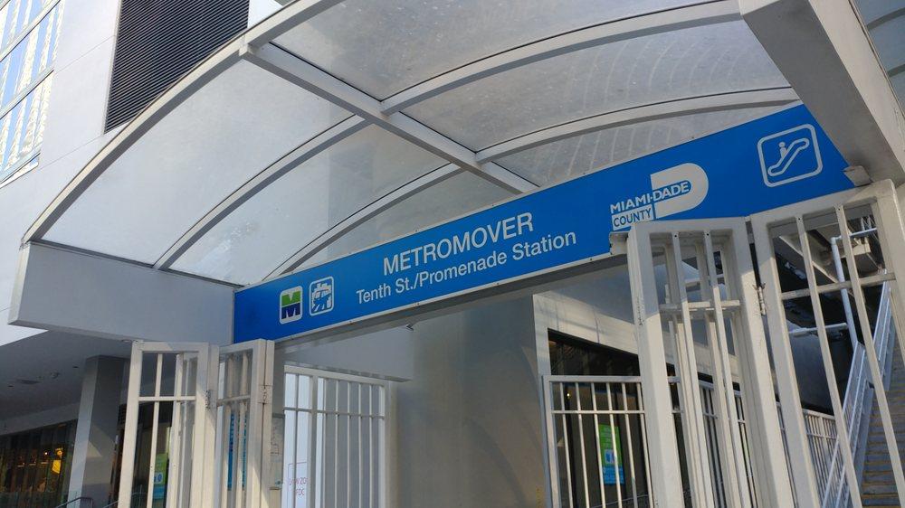 Tenth Street / Promenade Metromover Station: 1011 SE First Ave, Miami, FL