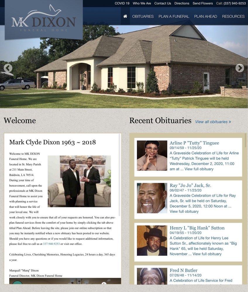 MK Dixon Funeral Home: 211 Main St, Baldwin, LA
