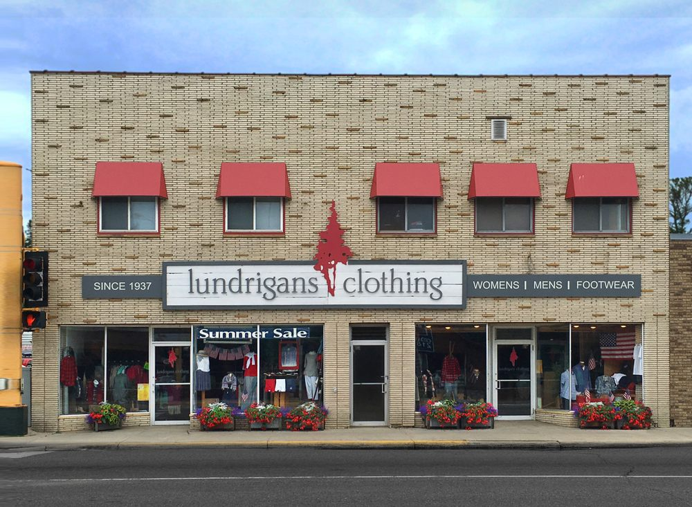 Lundrigans Clothing: 501 Minnesota Ave W, Walker, MN