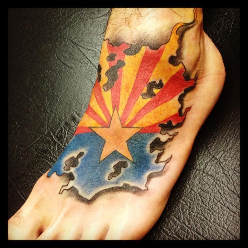arizona flag tattoo by goeke yelp. Black Bedroom Furniture Sets. Home Design Ideas
