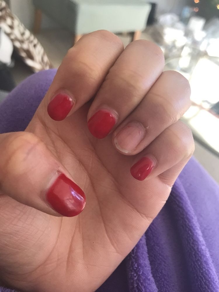 I really love how they did my nails they\'re really busy but get to ...