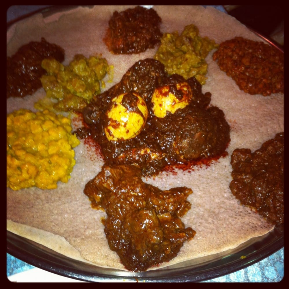 This is a 2 person sampler dinner which was enough for 3 for Abol ethiopian cuisine silver spring md