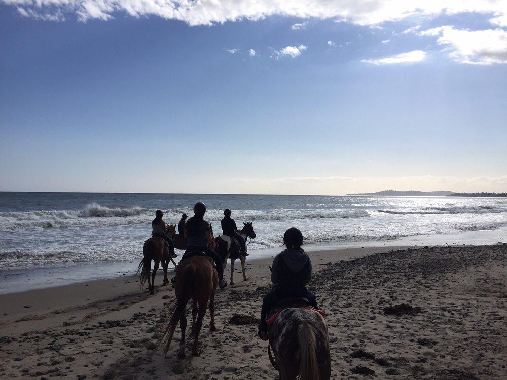 Horseback Riding On The Beach Near Santa Barbara