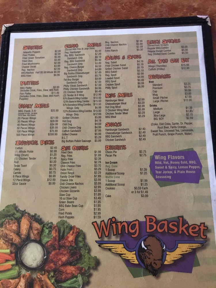 Wing Basket: 713 N Main St, Covington, TN
