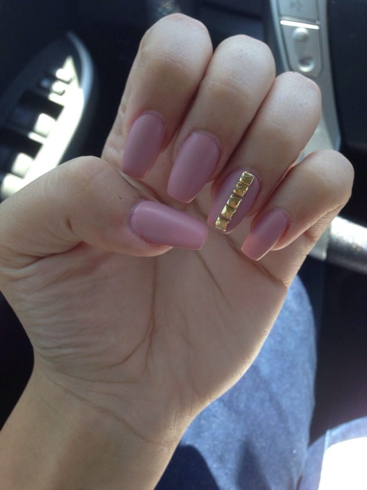 Exactly what I asked for! Narrow long nails with matte ...