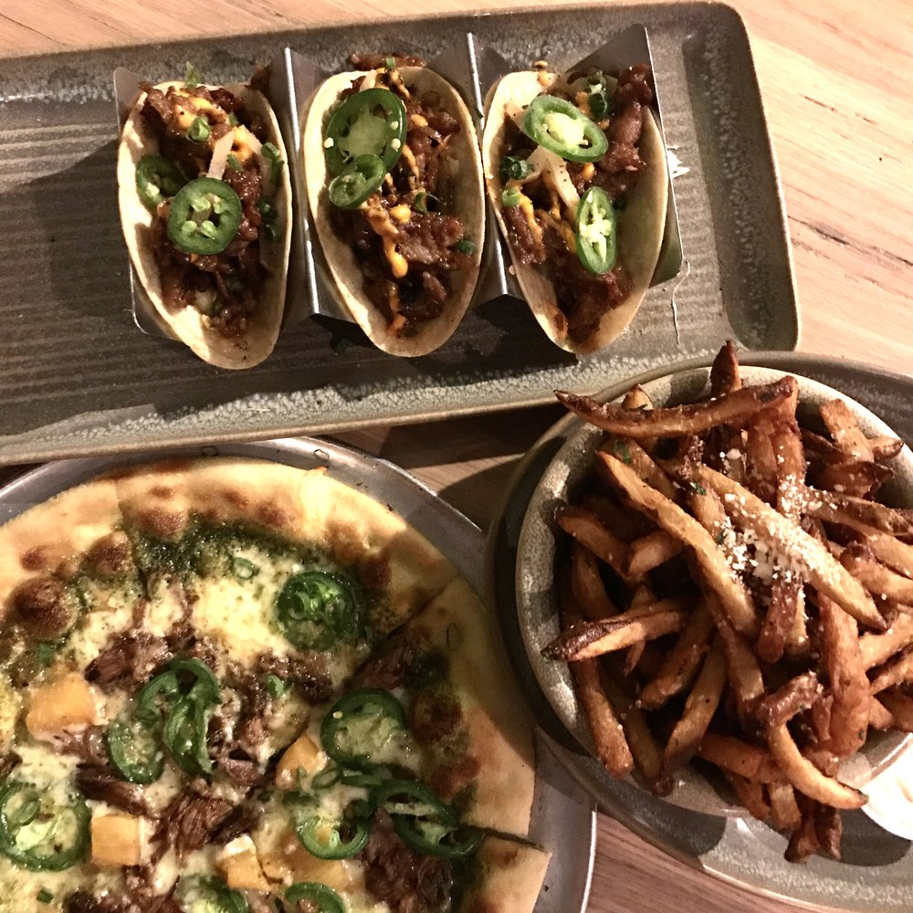 Moku Kitchen Menu bulgogi tacos, kalua pork pizza, & garlic truffle fries - yelp
