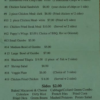 Photo Of Pappy G S Country Kitchen Universal City Tx United States Menu
