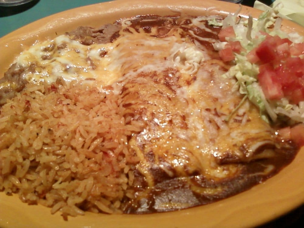 2 Cheese Enchiladas With Beans And Rice Yuuuummmmy Yelp