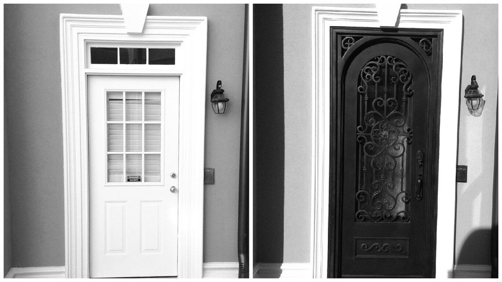 Custom Iron Door Replacement In This Before And After Yelp