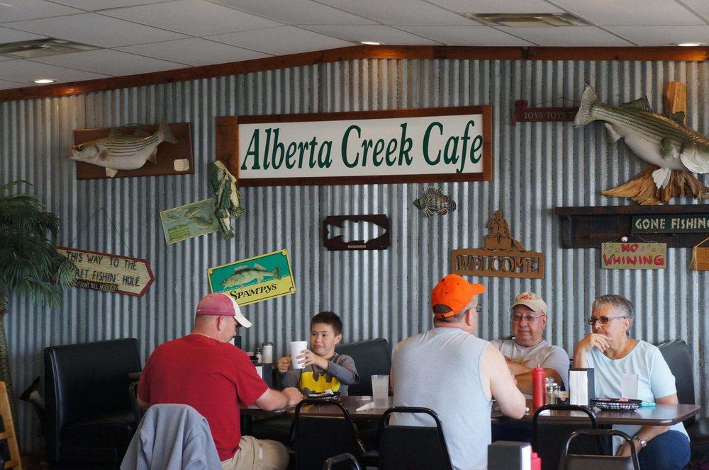Alberta Creek Cafe: 9040 Clear Lake Dr, Kingston, OK