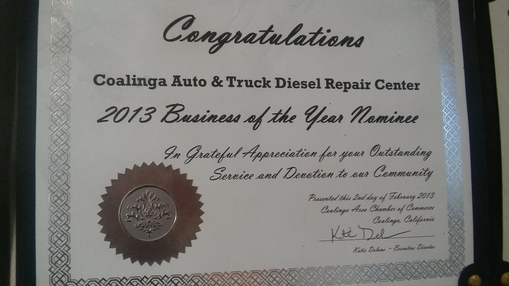 Coalinga Auto & Truck Diesel Repair Center: 304 E Polk St, Coalinga, CA