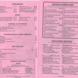 Chinese Cafe Washougal Menu