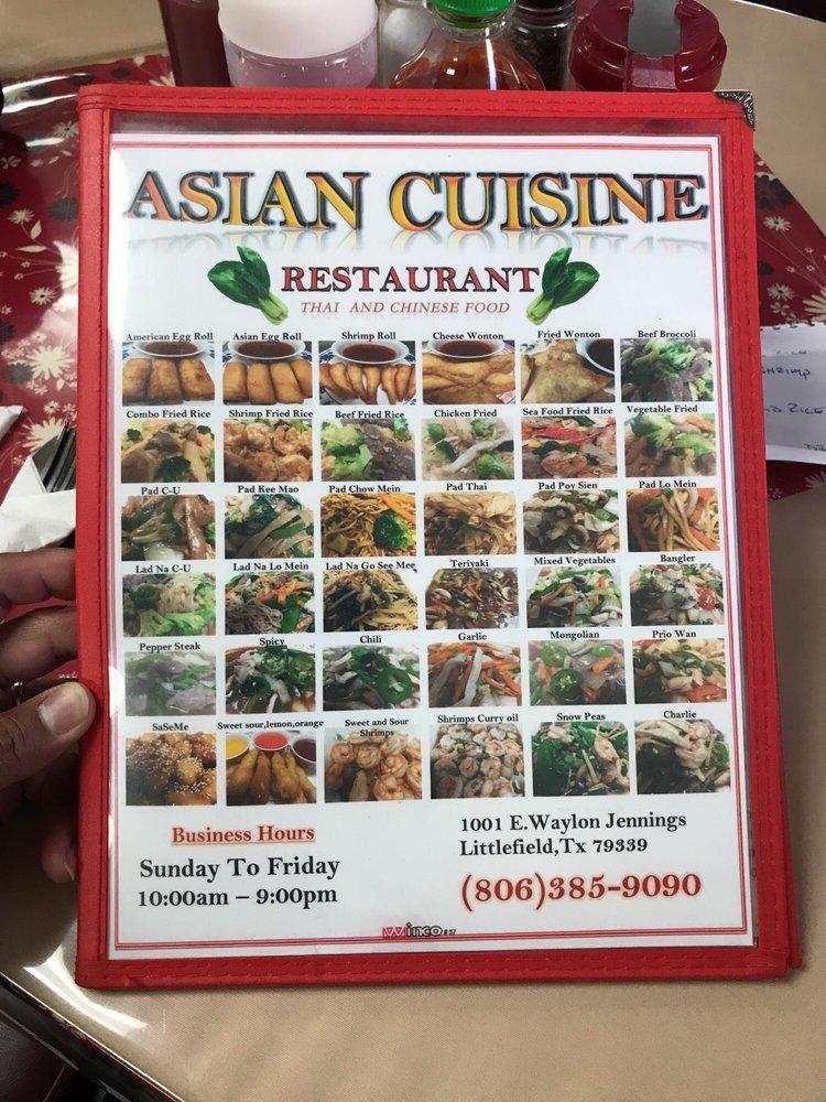 Asian Cuisine: 1001 E Waylon Jennings Blvd, Littlefield, TX