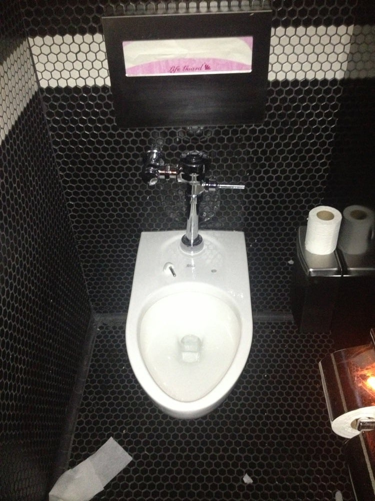 Bathroom Yelp why do the toilets in the female restroom not have toilet seats