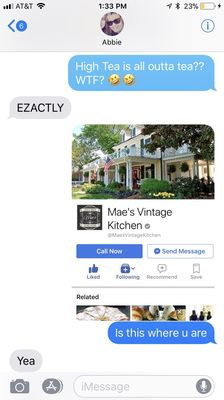 Mae S Vintage Kitchen 149 S Main St Kernersville Nc Tea