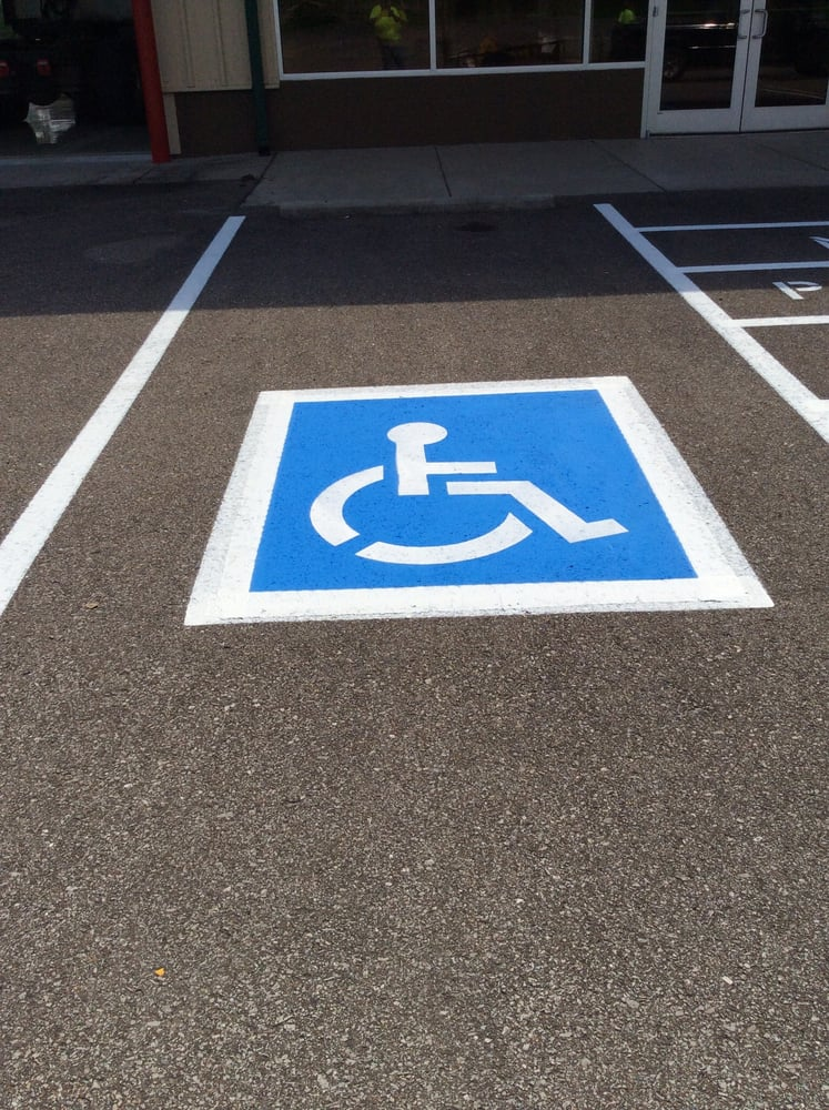 Parking Stencil For Handicap Ada Requirements In Pigeon