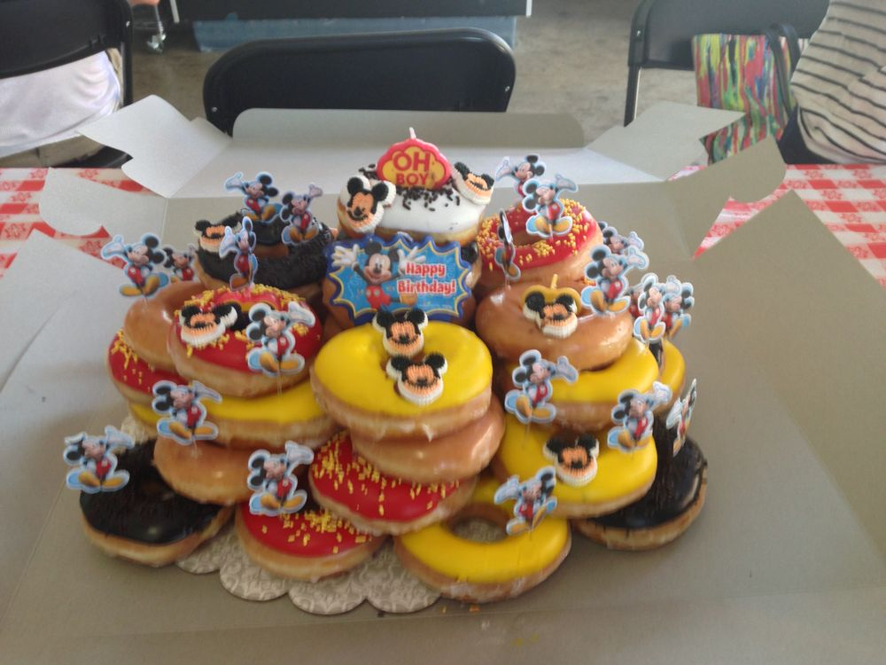 Mickey Mouse Birthday Donut Cake Yelp