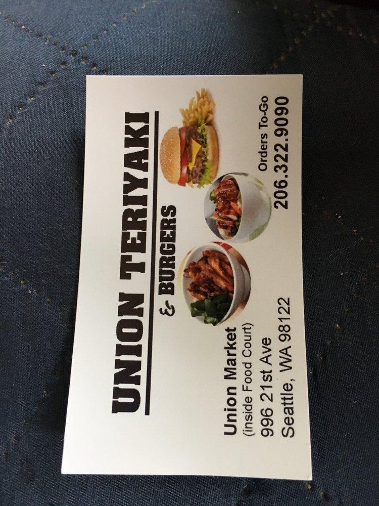 Union Teriyaki and Burgers: 2101 E Union St, Seattle, WA